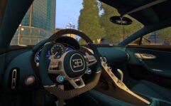2018 Bugatti Chiron (1.5.9) - City Car Driving мод (изображение 6)