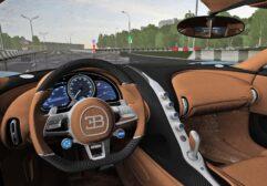 2018 Bugatti Chiron (1.5.9) - City Car Driving мод (изображение 8)