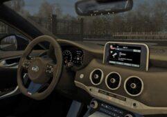 2018 Kia Stinger GT (1.5.9) - City Car Driving мод (изображение 8)