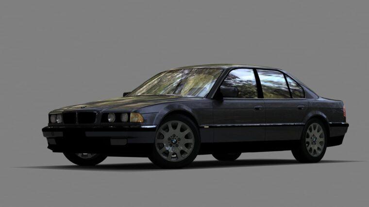 BMW 750i E38 (1.5.9) - City Car Driving мод