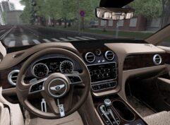 Bentley Bentayga 2016 (1.5.9) - City Car Driving мод (изображение 6)