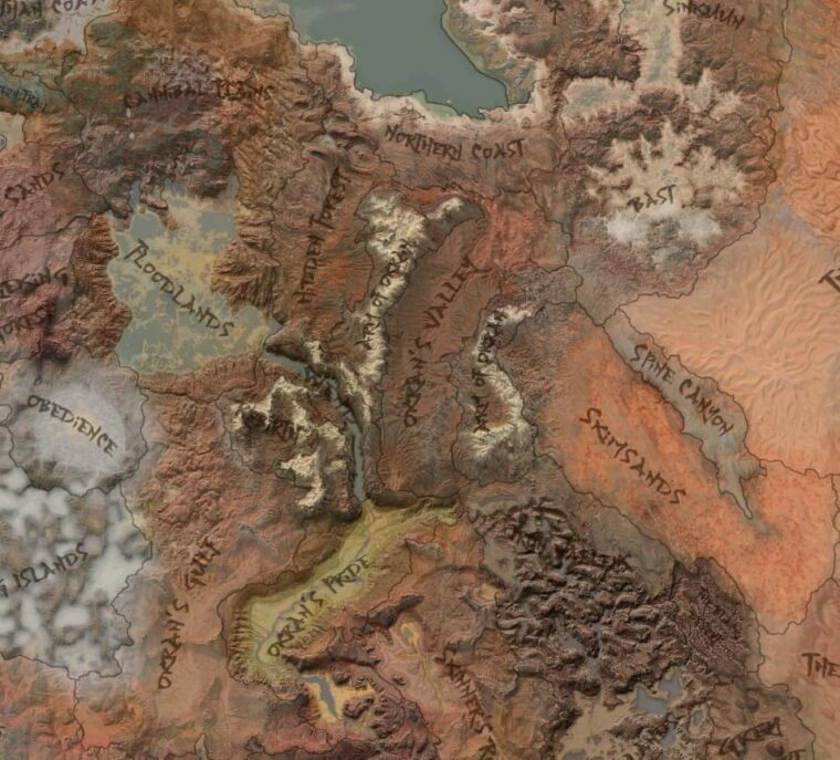 Better Map With Borders - Kenshi мод