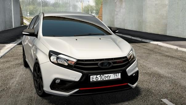 LADA Vesta Sport 1.8i (1.5.9) - City Car Driving мод (изображение 2)