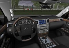 Lexus LX570 5.7 Sport Design (1.5.9) - City Car Driving мод (изображение 4)