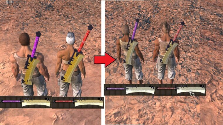 Luxury Weapons Reduce Color - Kenshi мод