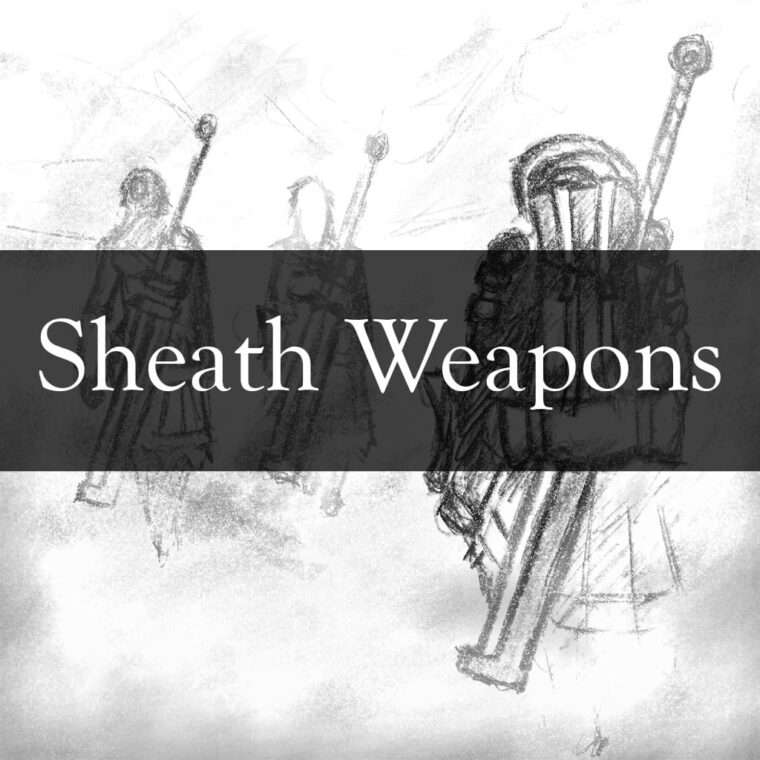 Missing Sheath Weapons - Kenshi мод