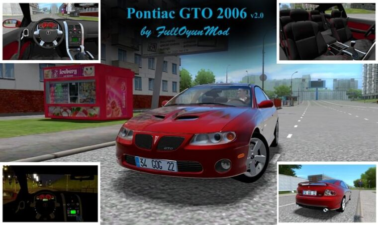 Pontiac GTO 2006 (1.5.9) - City Car Driving мод