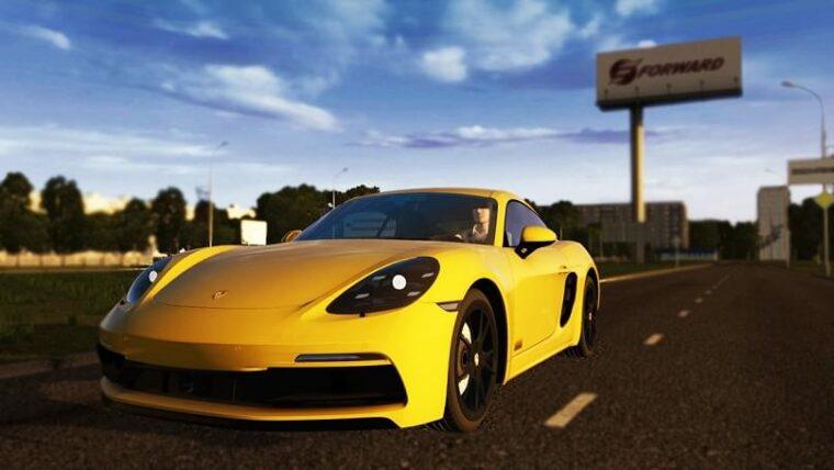 Porsche Cayman GTS 2018 (1.5.9) - City Car Driving мод