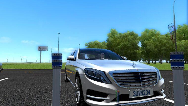 Mercedes-Benz S63 AMG (устаревшая версия) (1.5.9) - City Car Driving мод