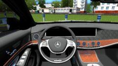 Mercedes-Benz S63 AMG (устаревшая версия) (1.5.9) - City Car Driving мод (изображение 4)