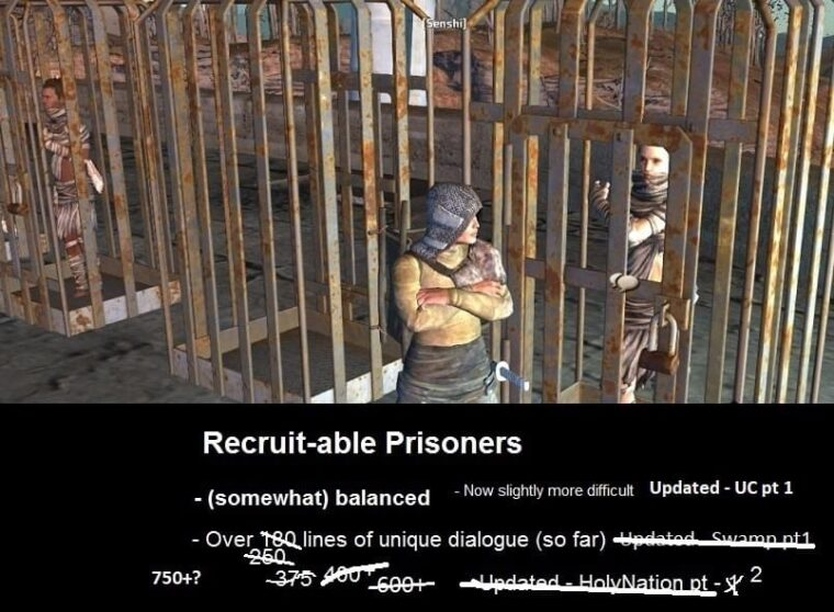 Recruitable Prisoners 招募对话 汉化 - Kenshi мод