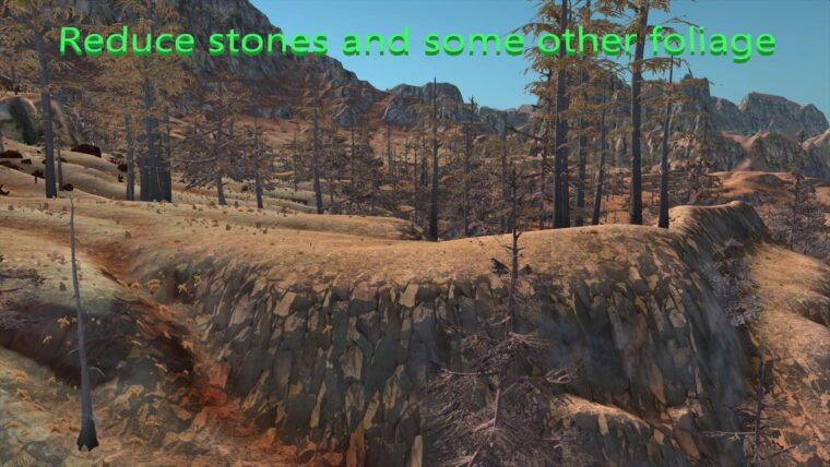 Reduce stones and some other foliage - Kenshi мод