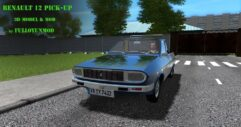 Renault 12 Pick-up (1.5.9) - City Car Driving мод