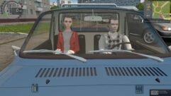 Renault 12 Pick-up (1.5.9) - City Car Driving мод (изображение 7)