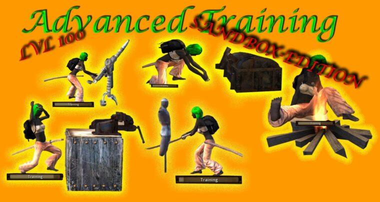 Sandbox Adv. Training mod (lvl 100) - Kenshi мод