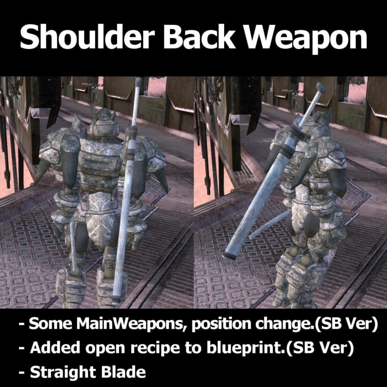 Shoulder Back Weapon - Kenshi мод