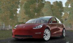 Tesla Model 3 (1.5.9) - City Car Driving мод