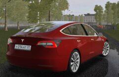 Tesla Model 3 (1.5.9) - City Car Driving мод (изображение 4)