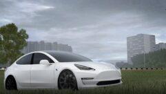 Tesla Model 3 (1.5.9) - City Car Driving мод (изображение 5)
