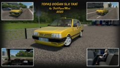 Tofaş Doğan SLX Taxi (1.5.9) - City Car Driving мод