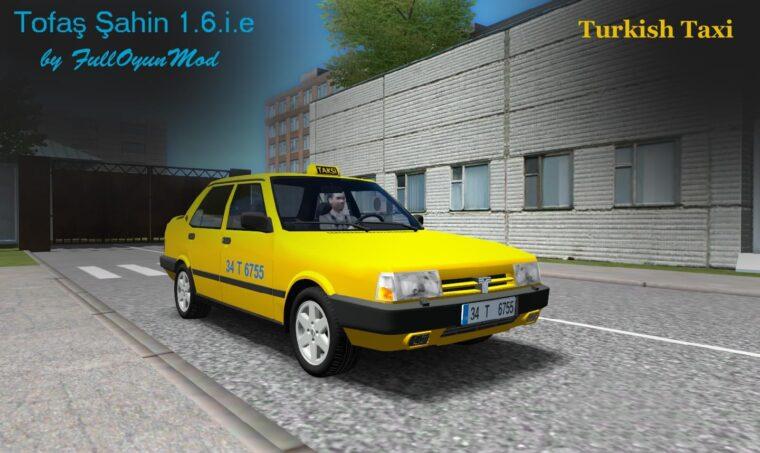 Tofas Sahin (Taxi) (1.5.9) - City Car Driving мод