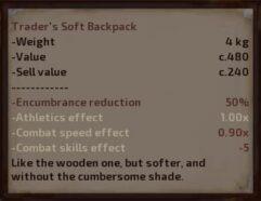Trader's Soft Backpack - Kenshi мод (изображение 2)