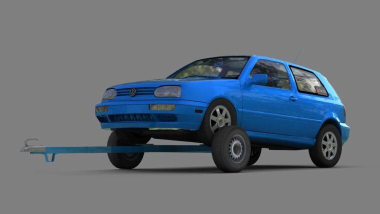 Прицеп с Volkswagen Golf 3 (1.5.9) - City Car Driving мод