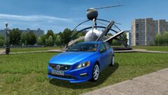 Volvo V60 Polestar 2015 (1.5.9) - City Car Driving мод (изображение 2)