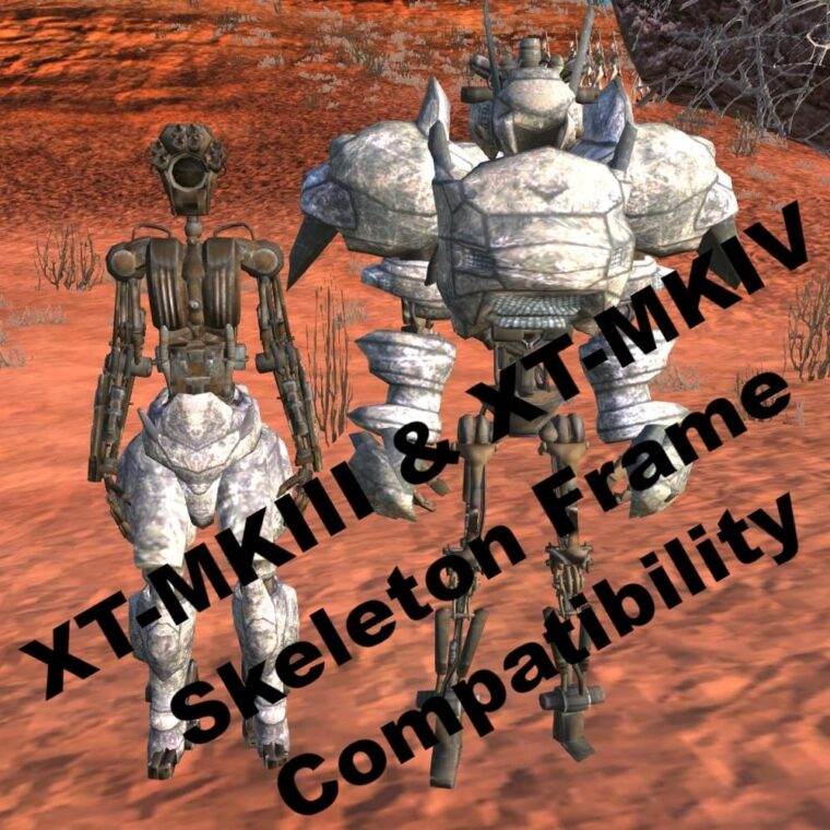 XT-MKIII & XT-MKIV Skeleton Frame Compatibility - Kenshi мод