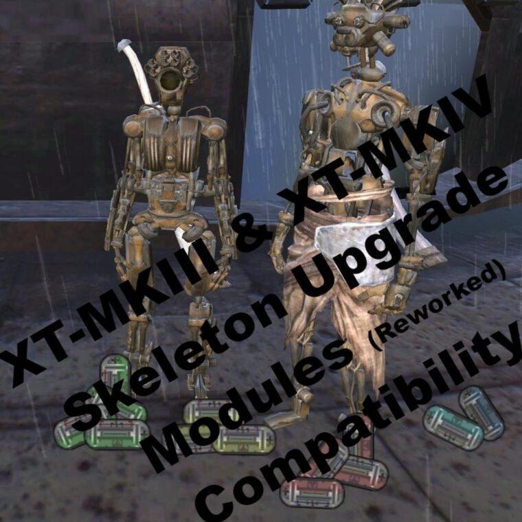 XT-MKIII & XT-MKIV Skeleton Upgrade Module Compatibility - Kenshi мод