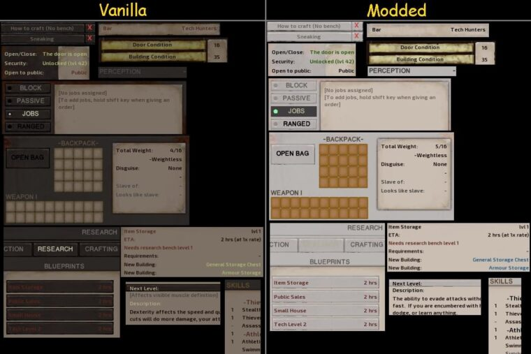 More readable text and UI colours - Kenshi мод